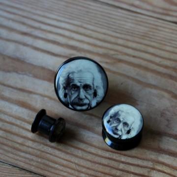 Plug akrylowy - Albert Einstein