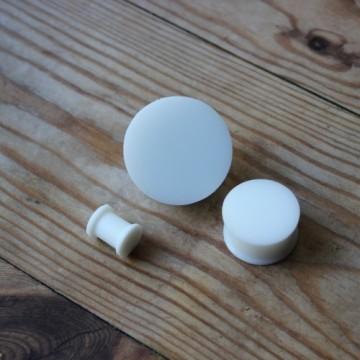 Plug silikonowy biały