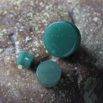 Plug z kamienia półszlachetnego Jadeit