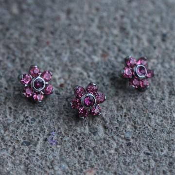 Nakrętka do microdermala kwiatek RÓŻOWY