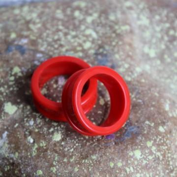 Czerwony silikonowy tunel