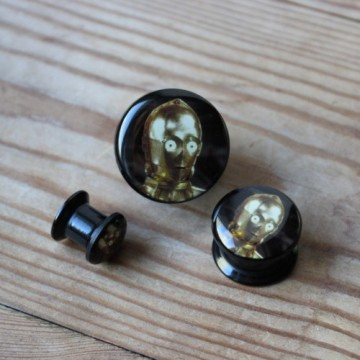 Plug akrylowy - C3PO