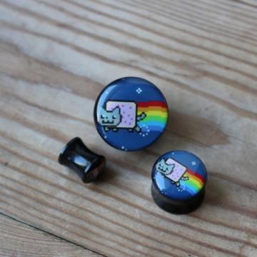 Plug akrylowy - Nyan Cat (prawy)