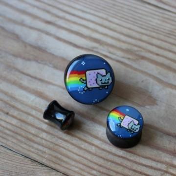 Plug akrylowy - Nyan Cat (lewy)
