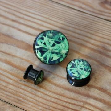 Plug akrylowy - Marihuana