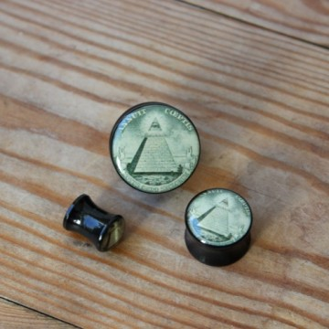 Plug akrylowy - Symbol Iluminati