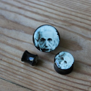 Plug akrylowy - Einstein