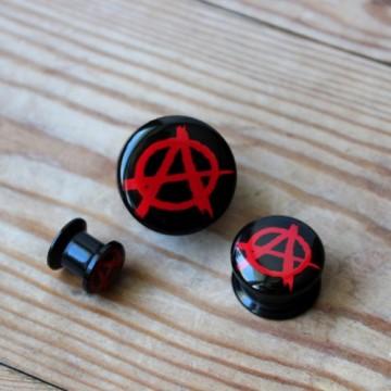 Plug akrylowy - Anarchia