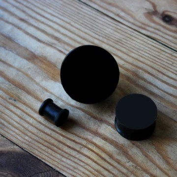 Plug silikonowy czarny