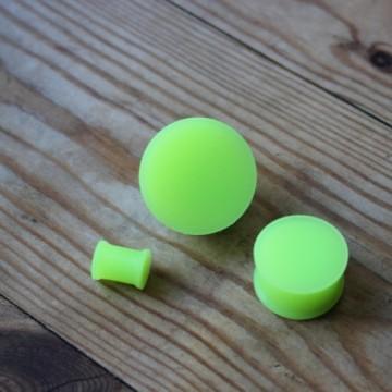 Plug silikonowy fluorescencyjny
