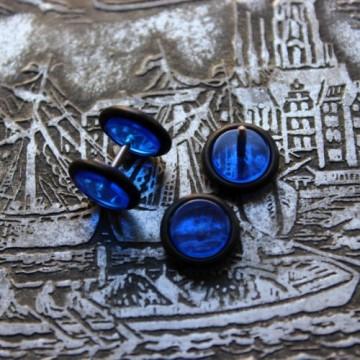 Fake plug ze stali w kolorze niebieskim