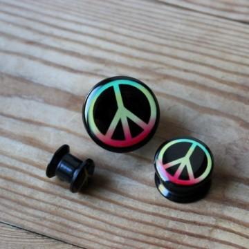 Plug akrylowy Peace Rasta