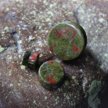 Plug z kamienia półszlachetnego Unakit