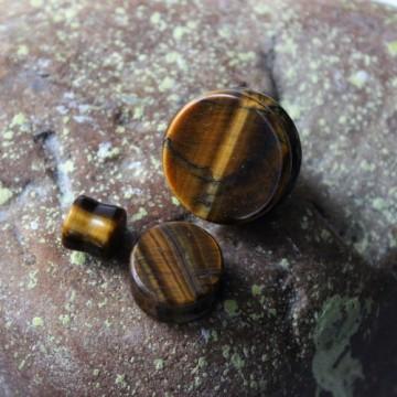 Plug z kamienia półszlachetnego Tygrysie Oko