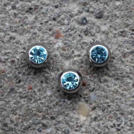 Kulka stalowa z kryształkiem MORSKI