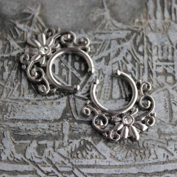 Fake Septum ornament z kryształłkiem