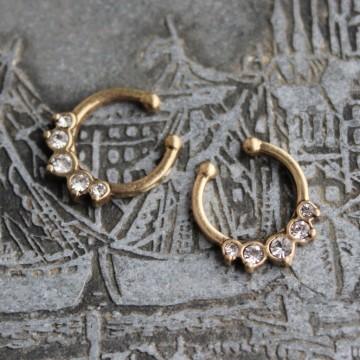 Fake Septum lotos z kryształkami