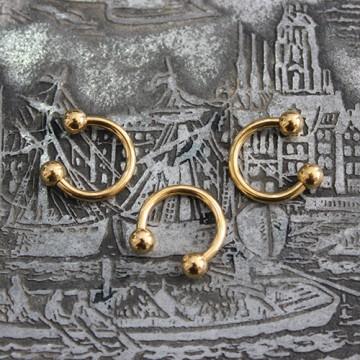 Podkowa stalowa w kolorze złota