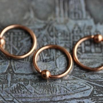 Stalowe kółko zamknięte - różowe złoto