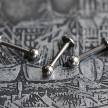 Labret ze stali z kulką 1,2mm (BASIC)