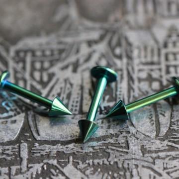 Labre ze stali anodyzowanej zielony ze stożkami