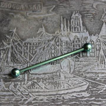 Zielona anodyzowana sztanga ze stali (INDUSTRIAL)