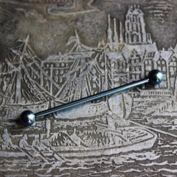 Niebieska anodyzowana sztanga ze stali (INDUSTRIAL)