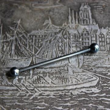 Jasnoniebieska anodyzowana sztanga ze stali (INDUSTRIAL)