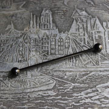 Czarna anodyzowana sztanga ze stali (INDUSTRIAL)